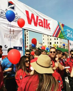 Walk with Al Younbouh Charity Event at Hayali Bay